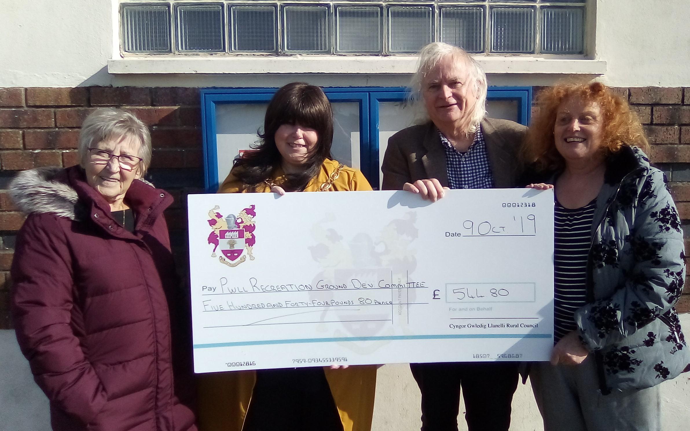 Pwll Recreation Ground Development Committee – Community Development Grant